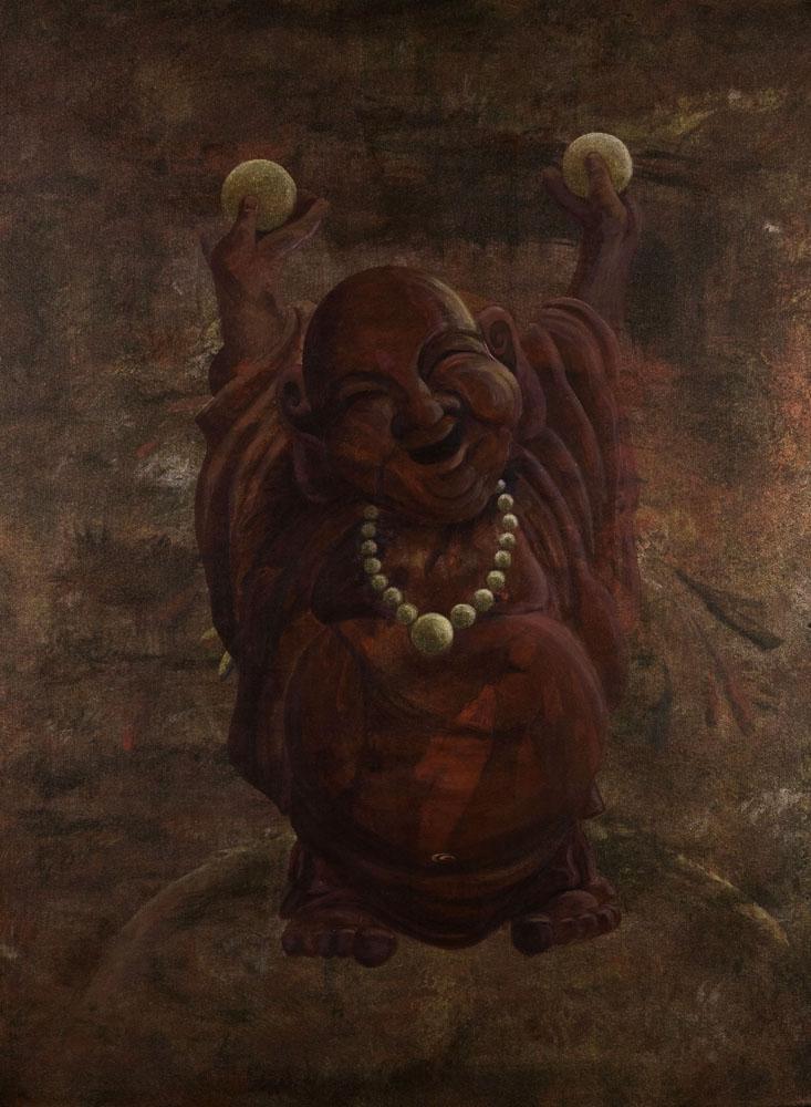 Transmutation - Happy Buddha fine art painter Truckee and Lake Tahoe artist spiritual painting