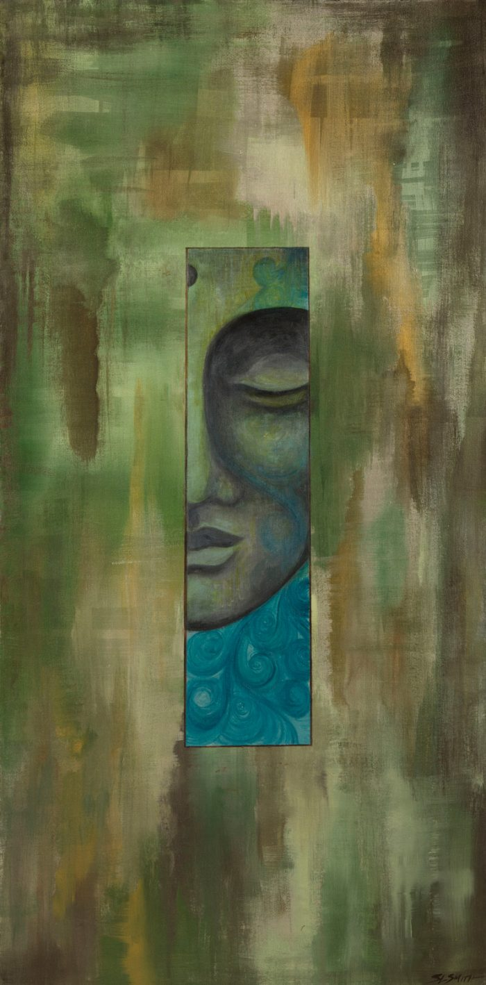 Arboreal Meditation - Flow Buddha fine art painter Truckee and Lake Tahoe artist spiritual painting