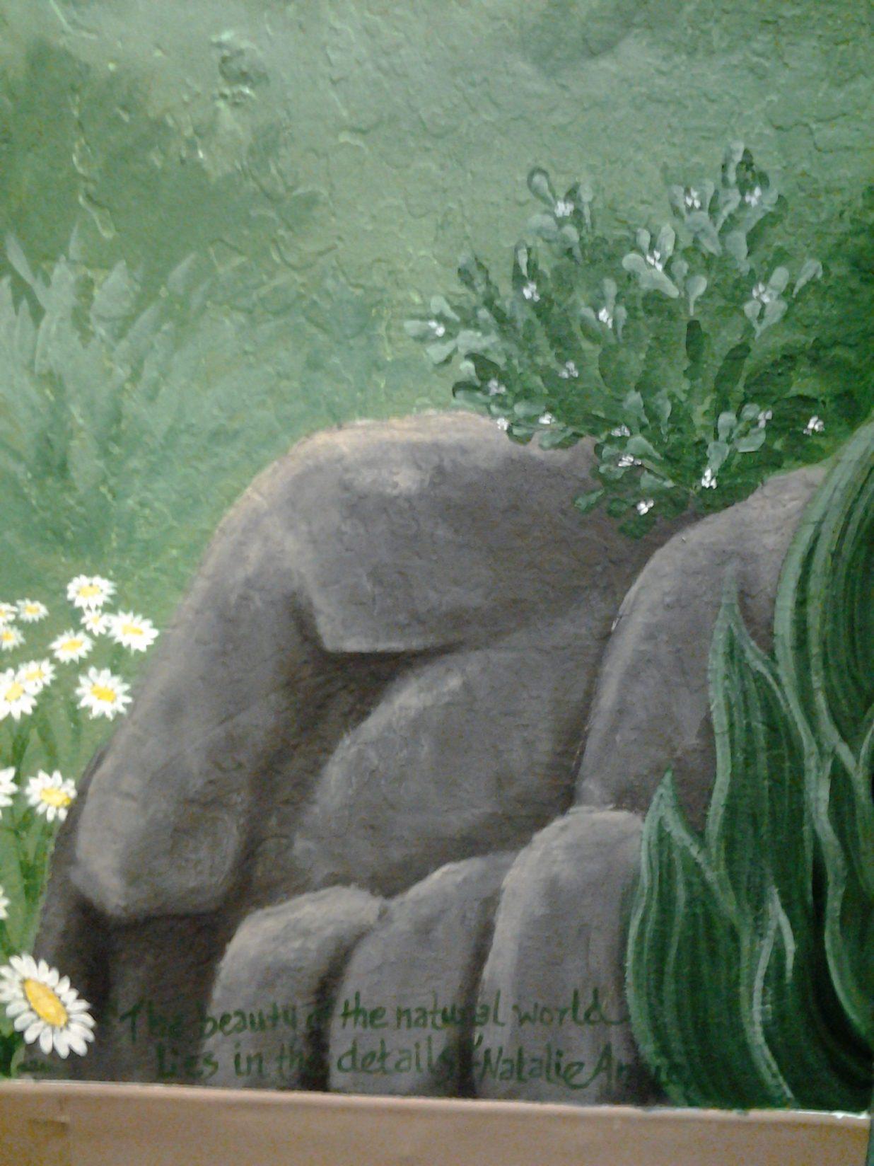 Truckee Elementary School Mural - Truckee and Lake Tahoe fine art nature painter mentorship custom mural boulders