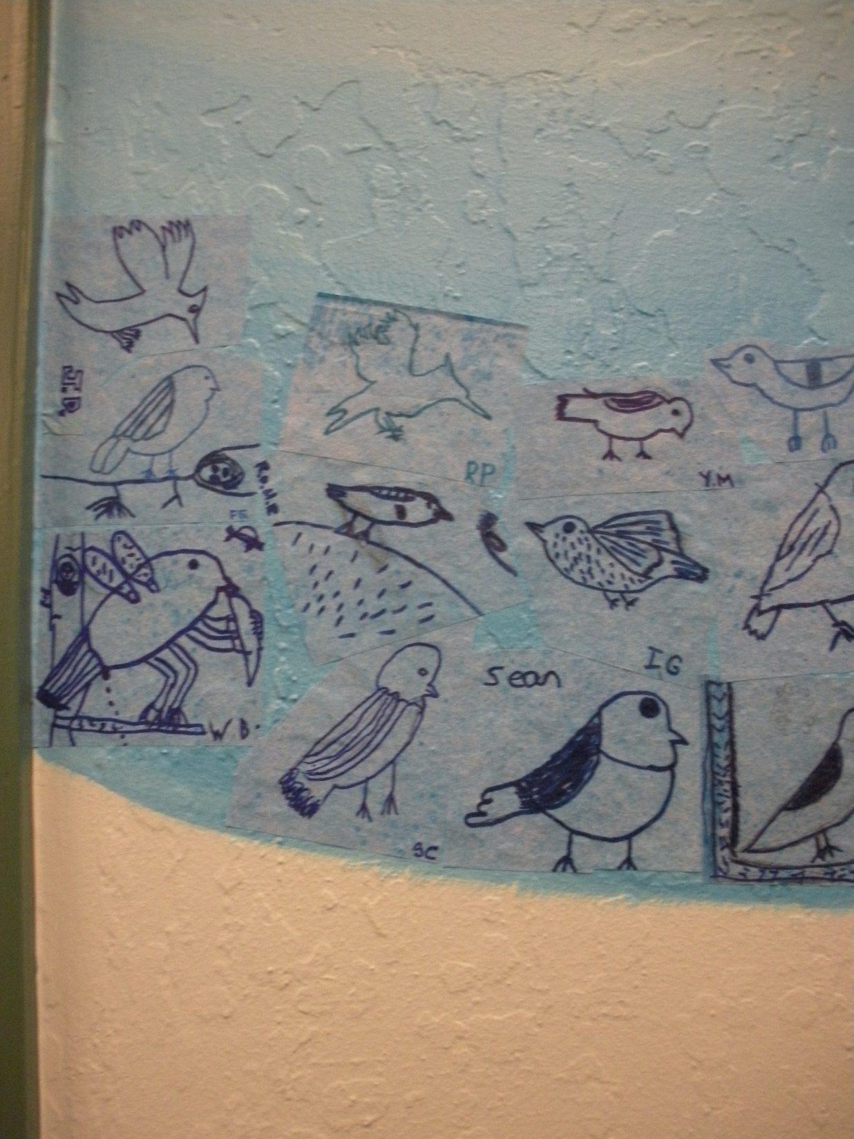 Truckee Elementary School Mural - Truckee and Lake Tahoe fine art nature painter mentorship custom mural children
