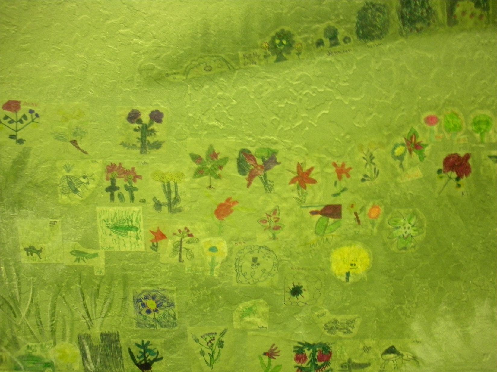 Truckee Elementary School Mural - Truckee and Lake Tahoe fine art nature painter mentorship custom mural meadow