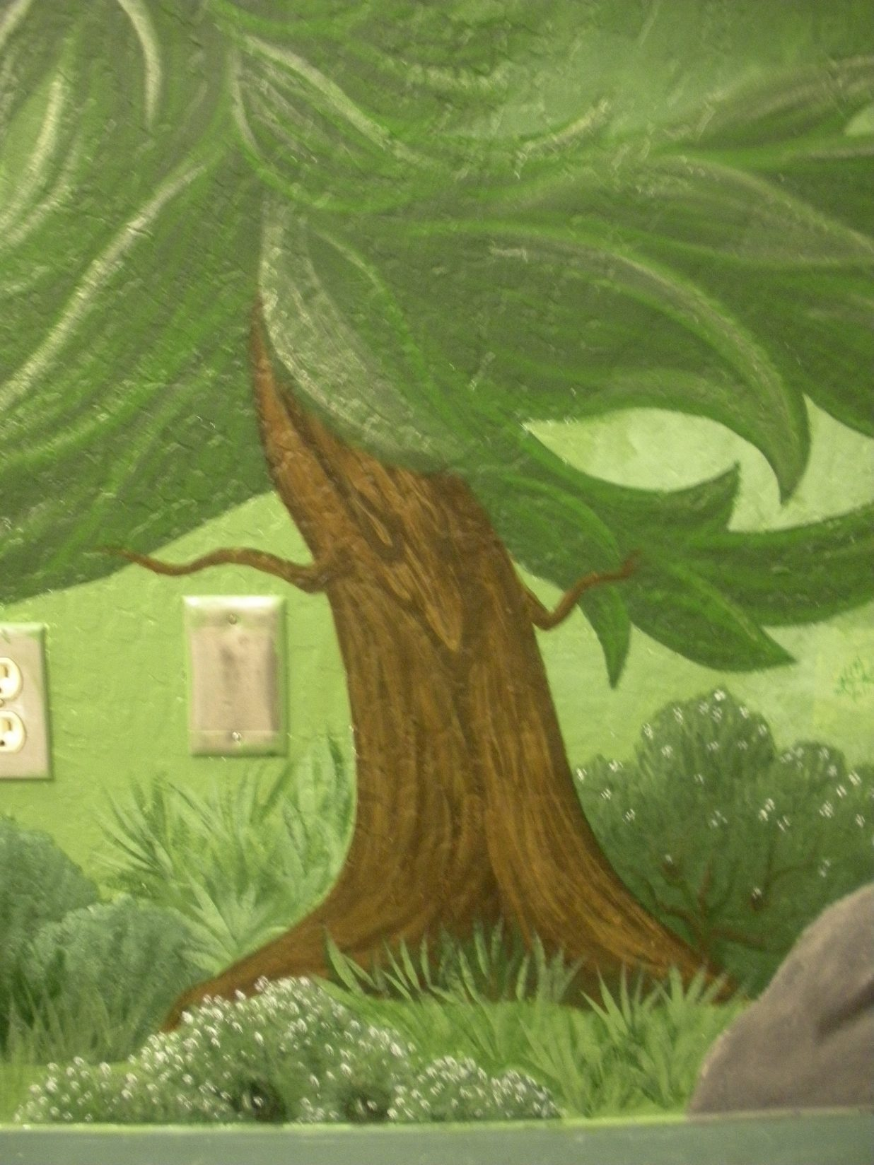 Truckee Elementary School Mural - Truckee and Lake Tahoe fine art nature painter mentorship custom mural forest