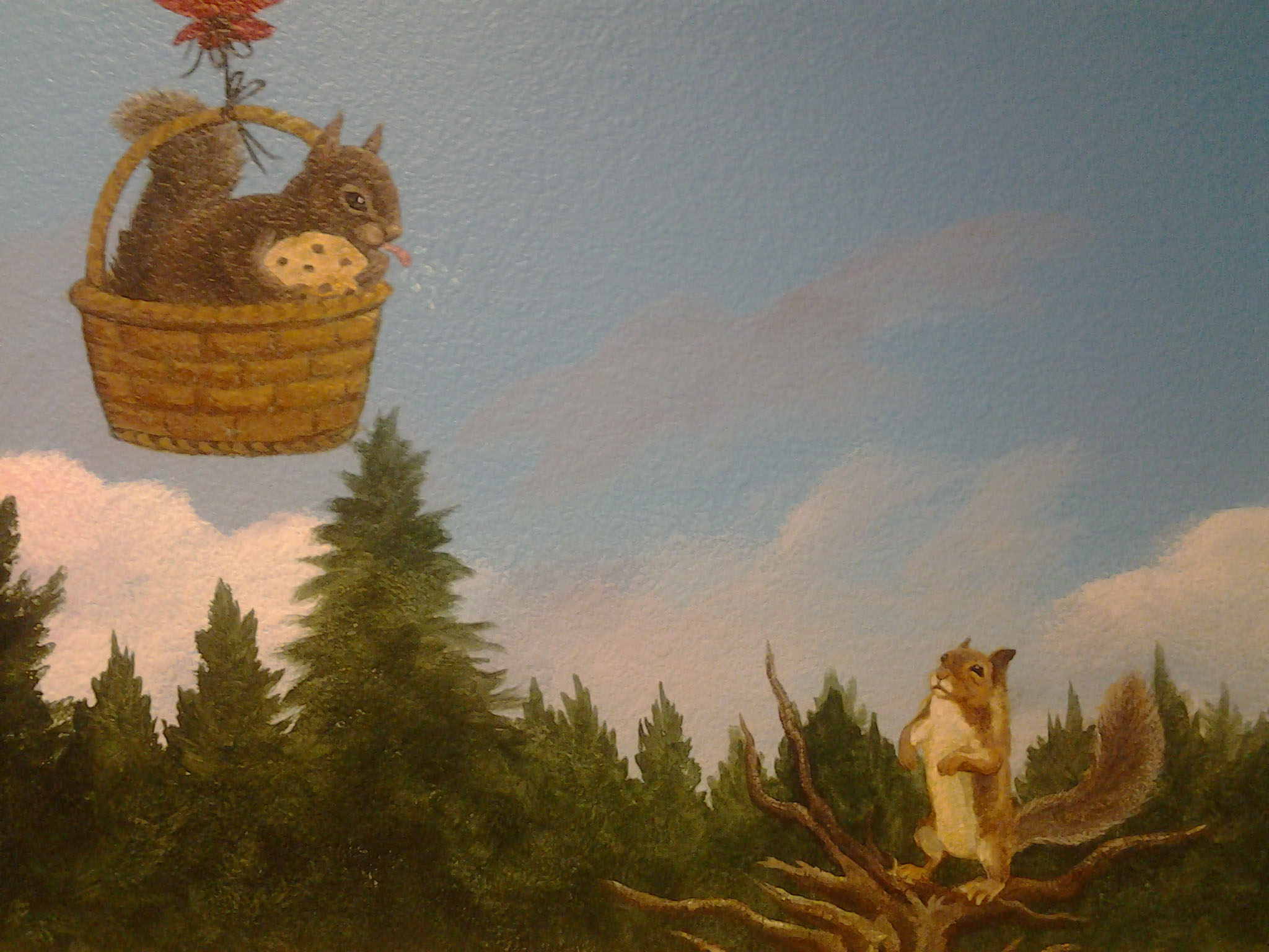 Full Belly Deli custom mural Truckee artist wildlife painting