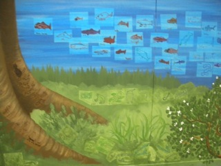 Truckee Elementary School Mural - Truckee and Lake Tahoe fine art nature painter mentorship custom mural landscape