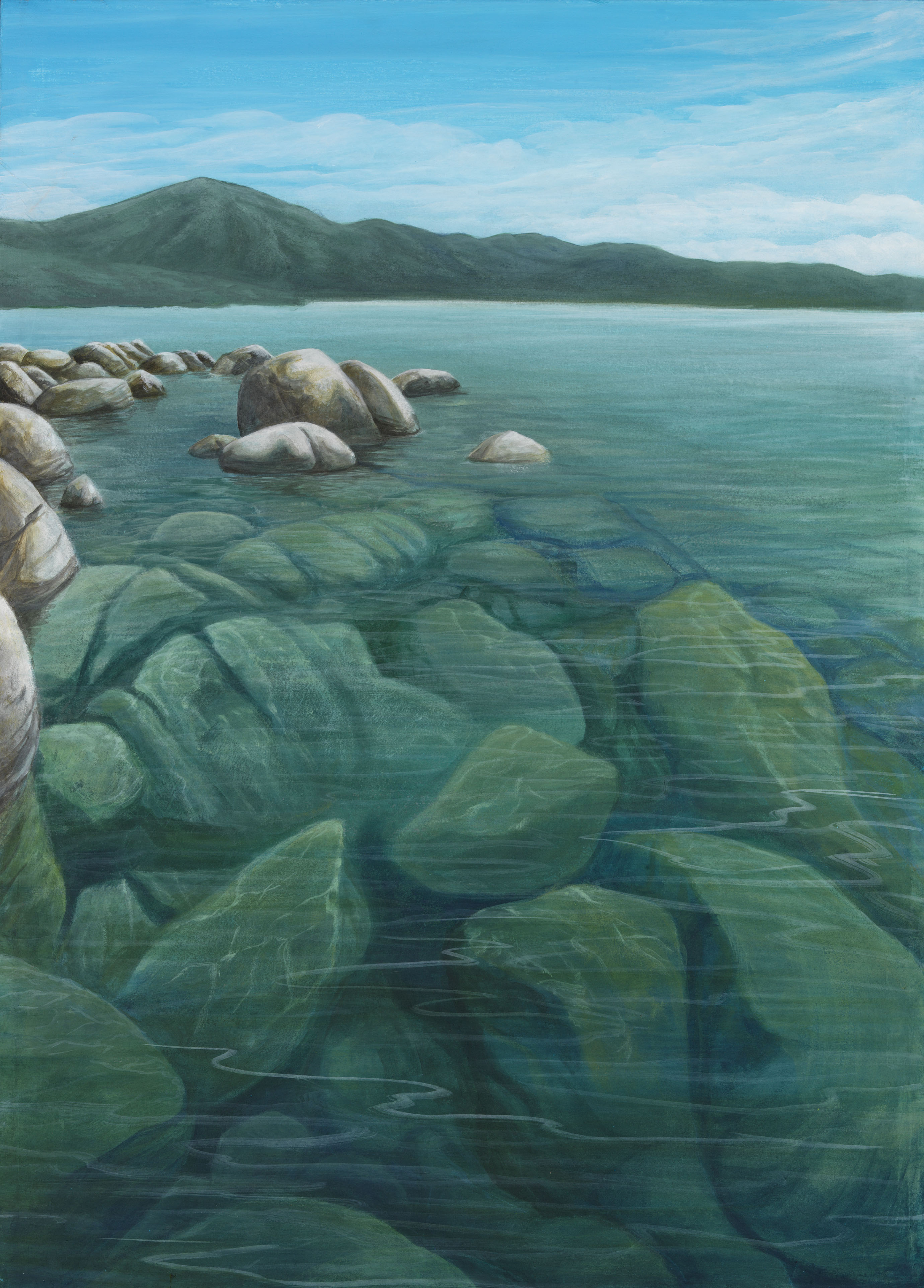Tahoe Deep Water - Truckee and Lake Tahoe fine artist landscape painter nature boulders