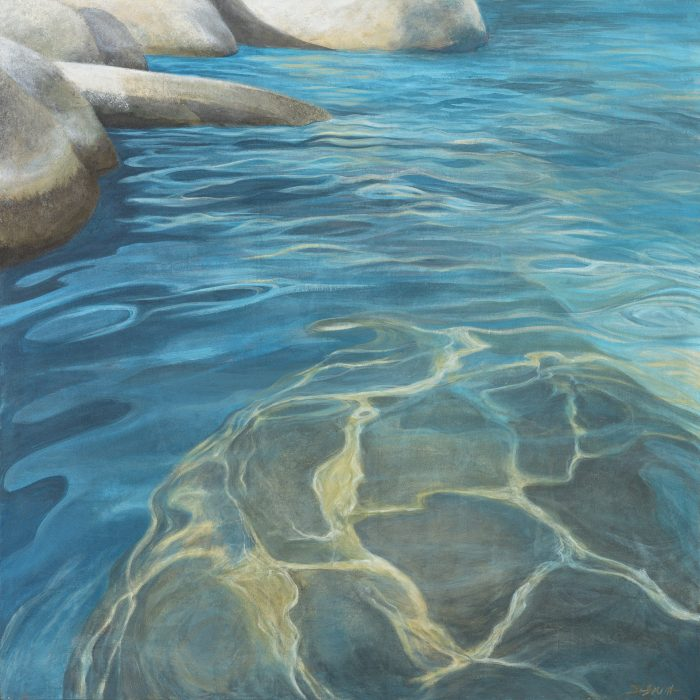 Tahoe Submerged - Truckee and Lake Tahoe fine artist landscape painter nature painting water boulders