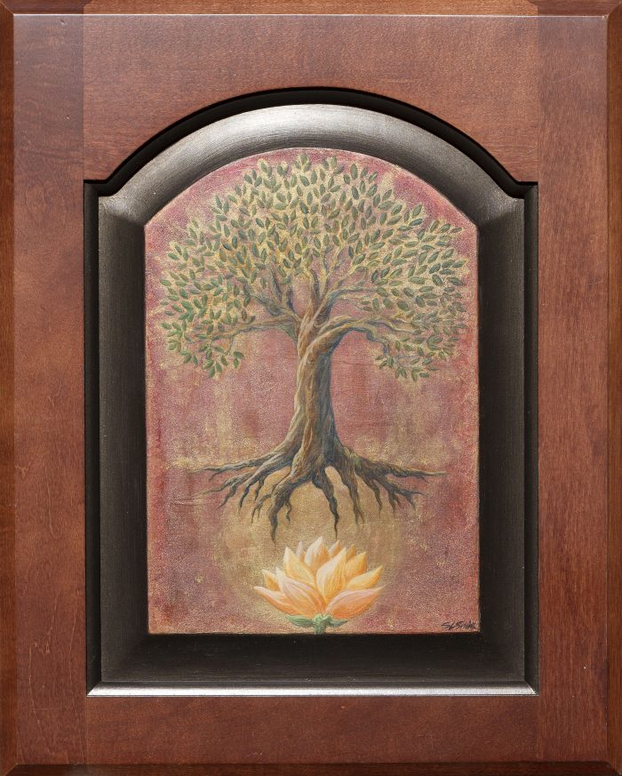 Tree of Life with Lotus Tahoe Truckee fine artist nature painting