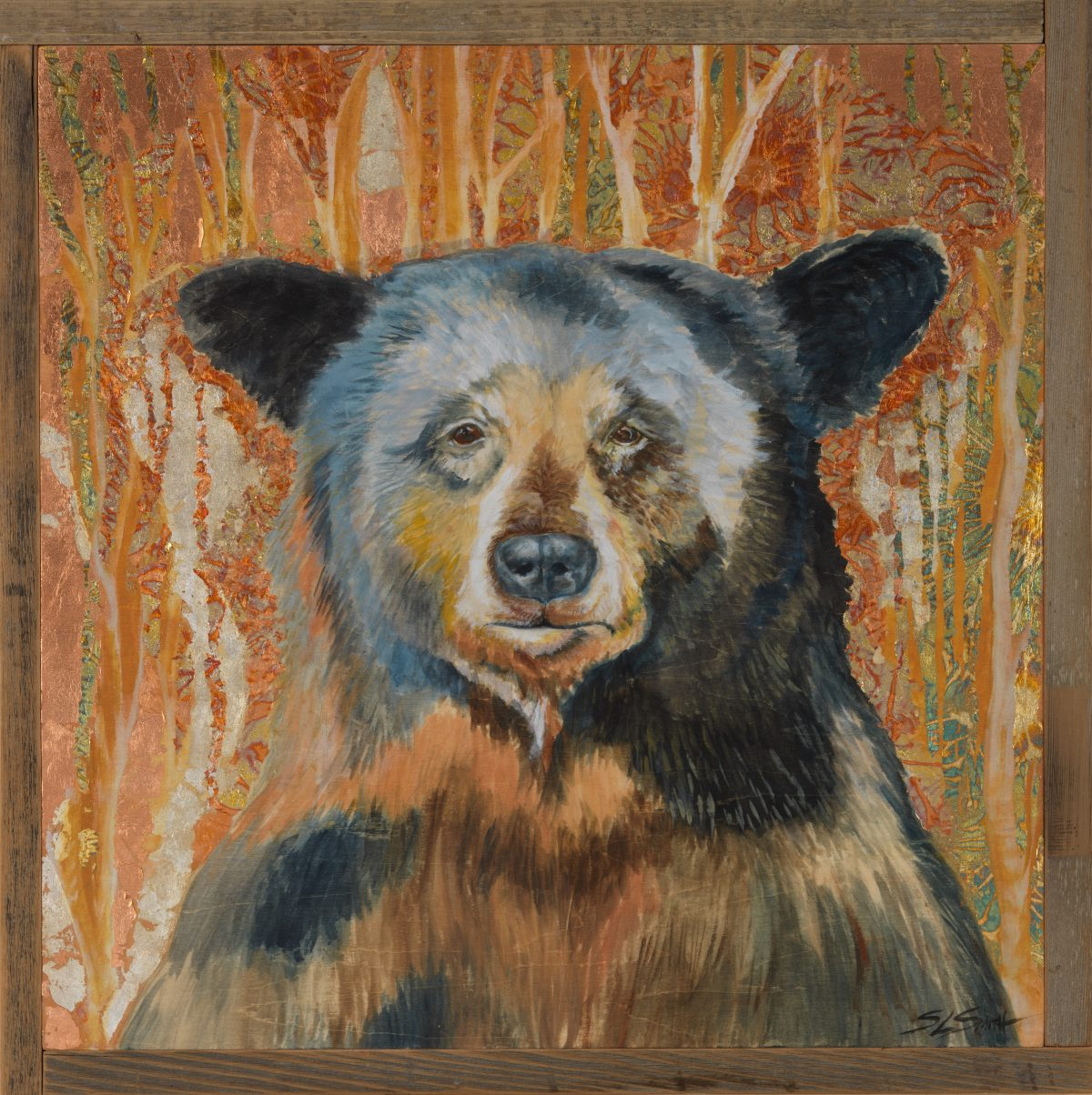 In a Gilded Wood - Truckee and Lake Tahoe fine artist wildlife painter nature painting bear