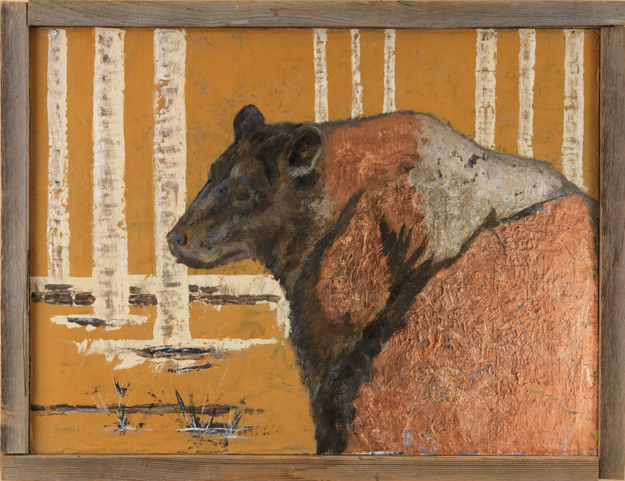 Black Bear with Aspens - Truckee and Lake Tahoe fine artist wildlife painter nature painting