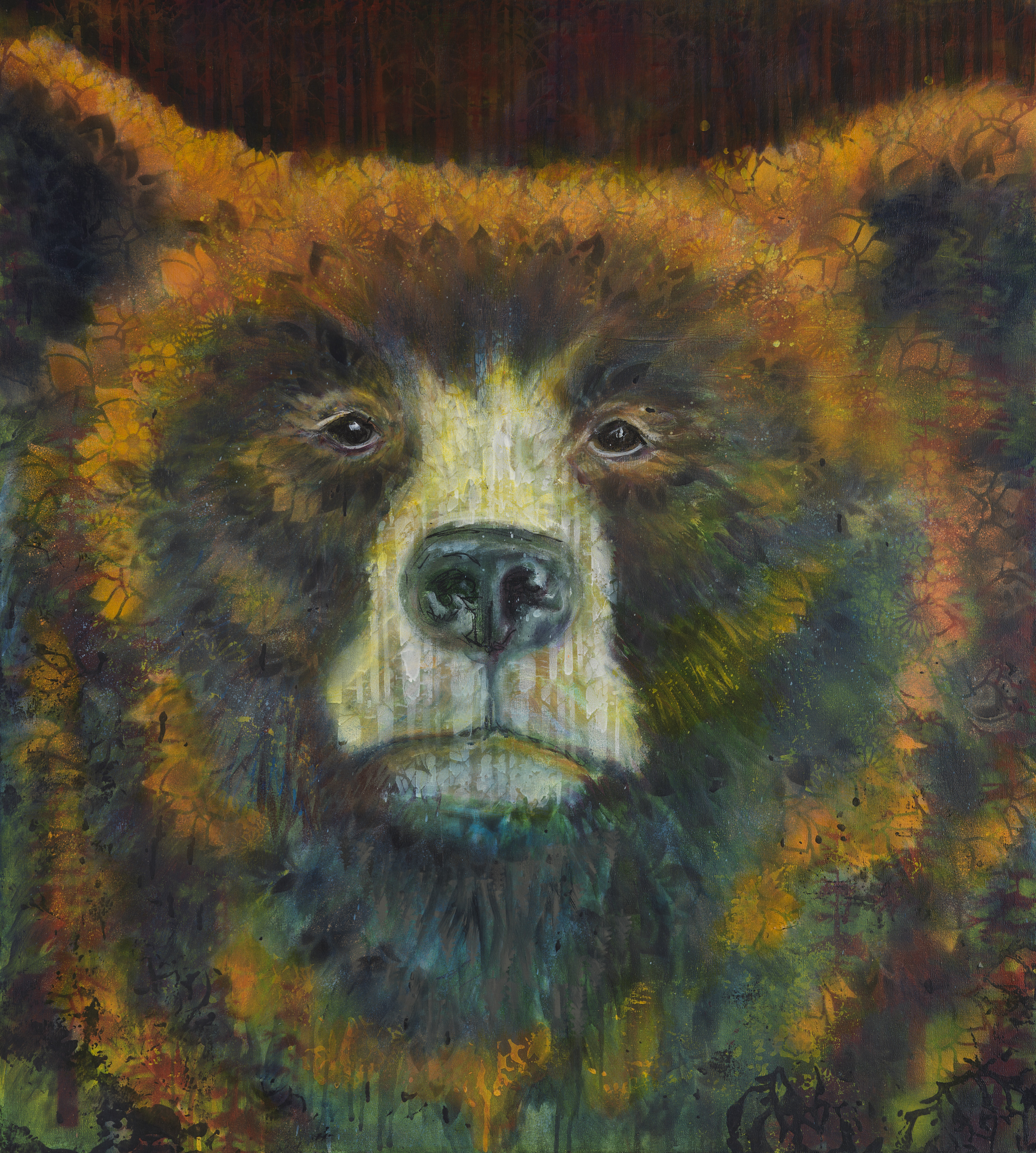 Wilding I Truckee and Lake Tahoe fine artist wildlife painter nature painting bear