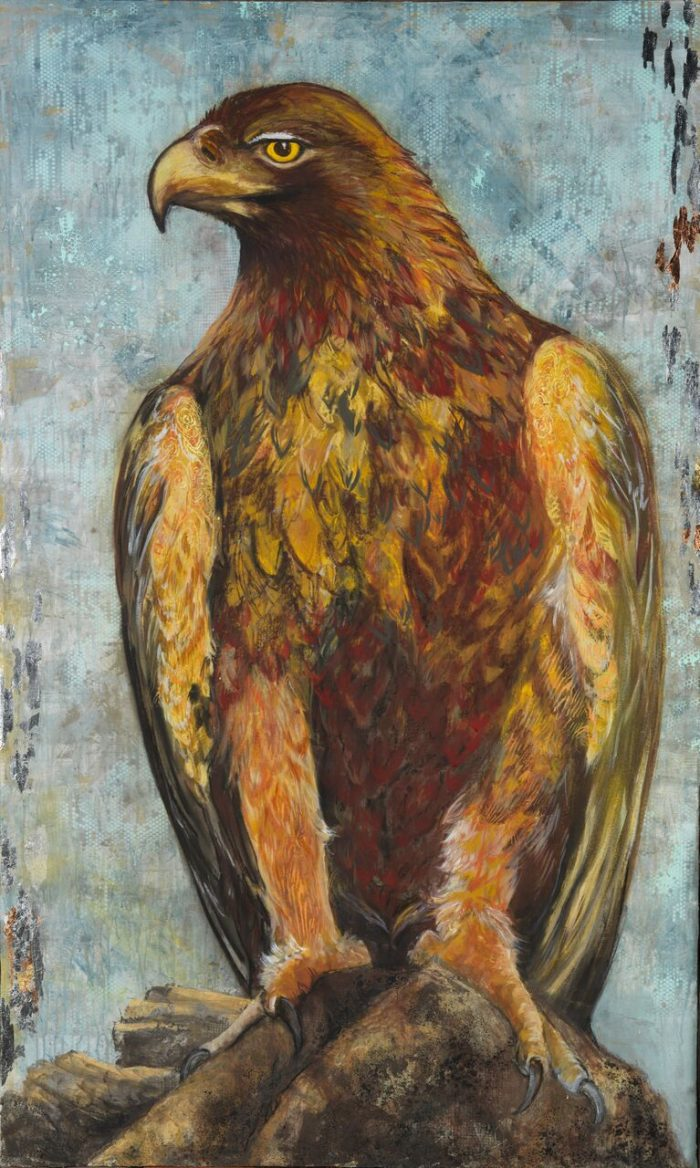 Watchful - Wilding Series Truckee and Lake Tahoe fine artist wildlife painter nature painting hawk