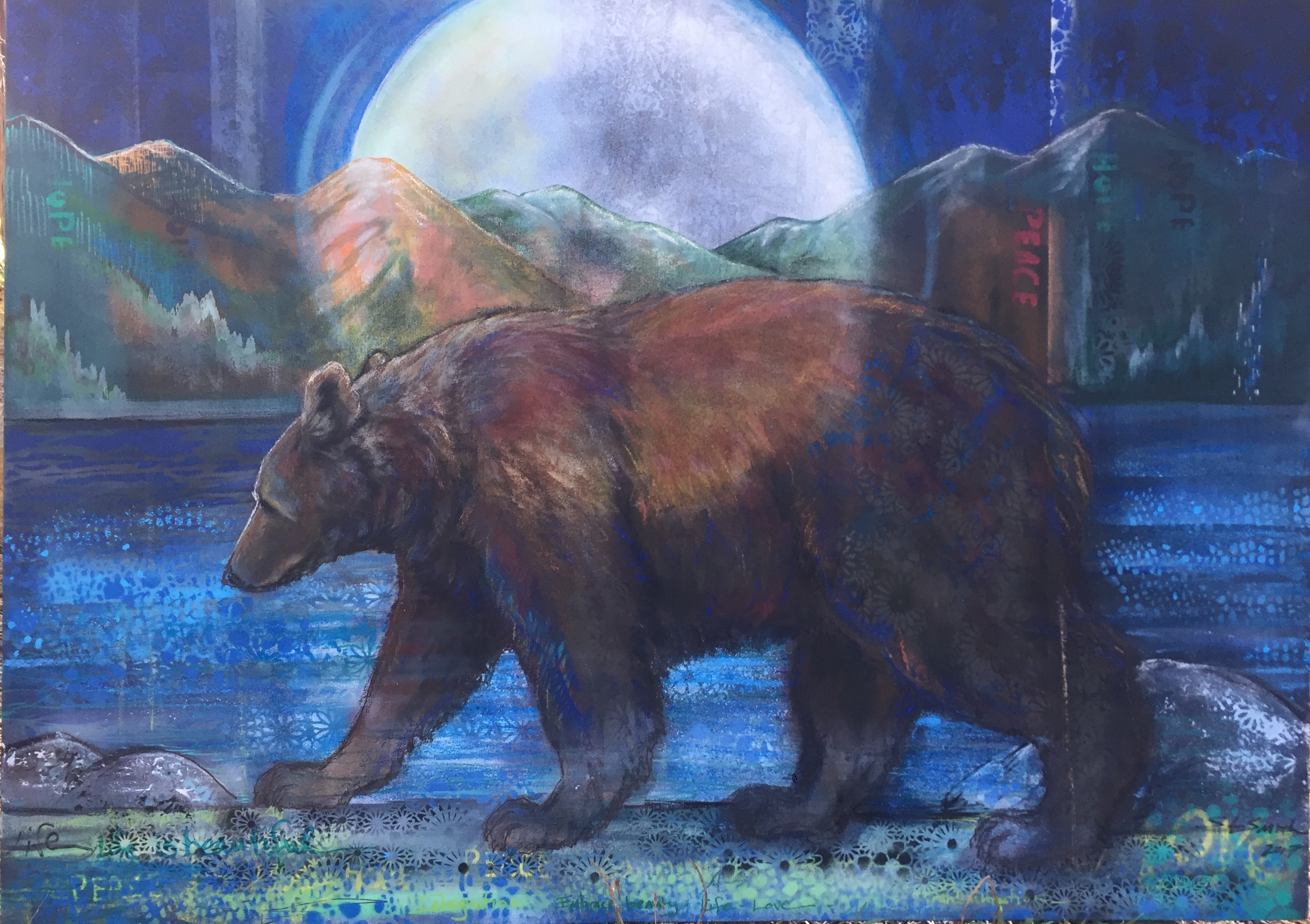 Spirit Bear - Truckee and Lake Tahoe fine artist wildlife painter nature painting