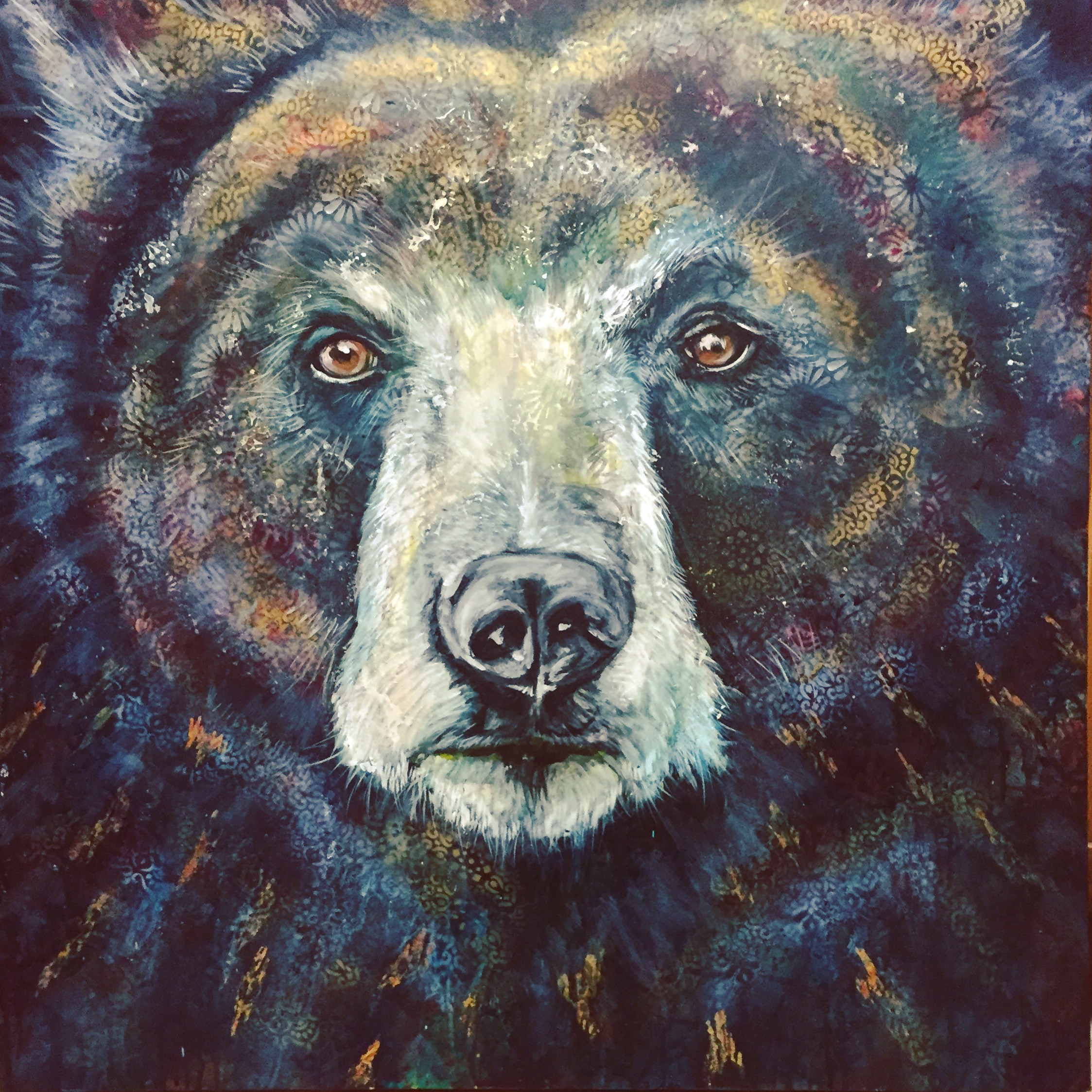 Wilding III - Nocturne Truckee and Lake Tahoe fine artist wildlife painter nature painting bear
