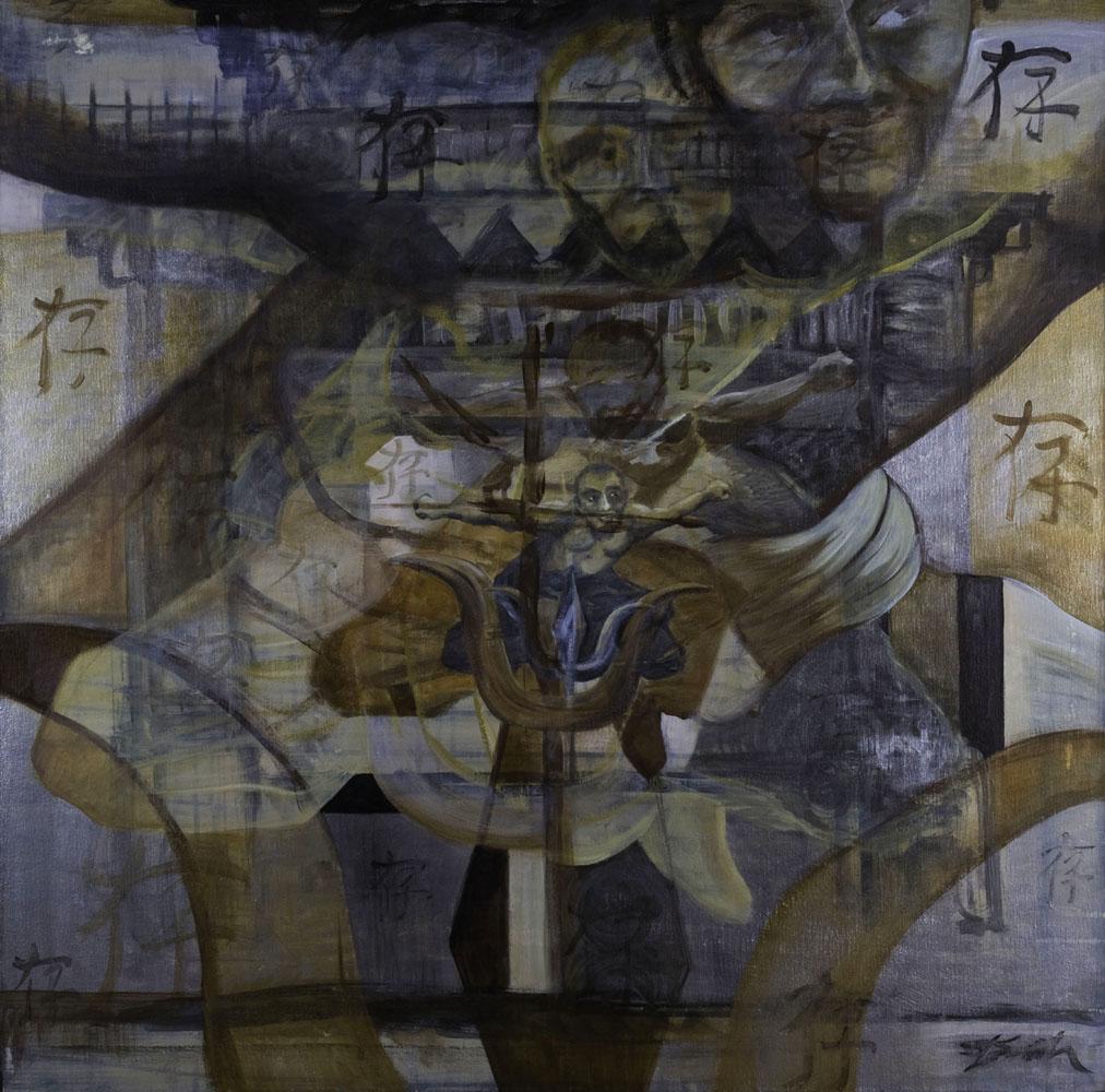 Meditation - Balancing Act fine art painter Truckee and Lake Tahoe artist spiritual painting