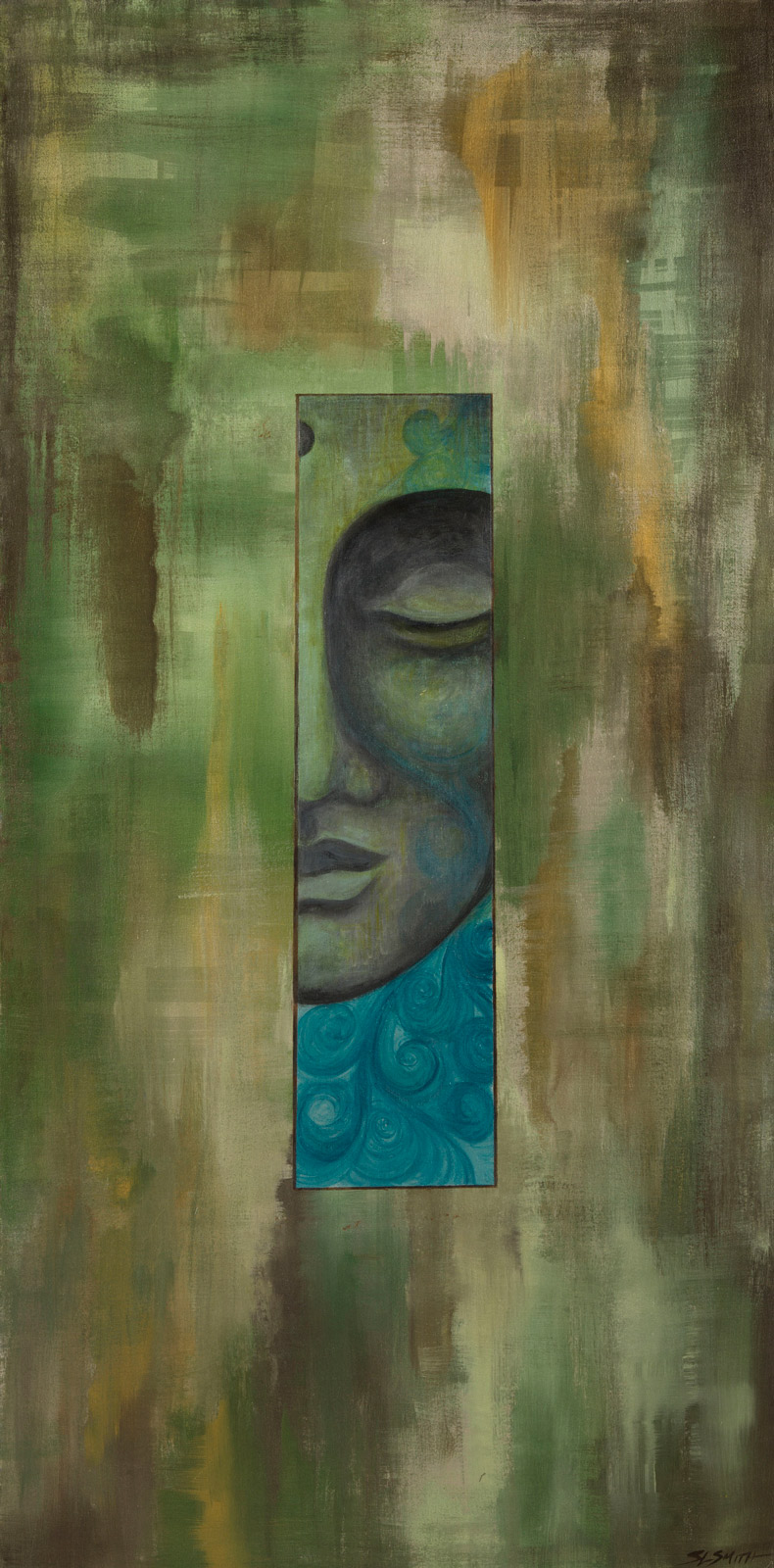 Arboreal Meditation - Flow Buddha fine art painter Truckee and Lake Tahoe artist spiritual painting