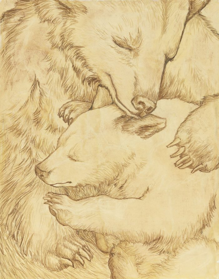 Mother and Child I Truckee and Lake Tahoe fine artist wildlife painter nature painting bears