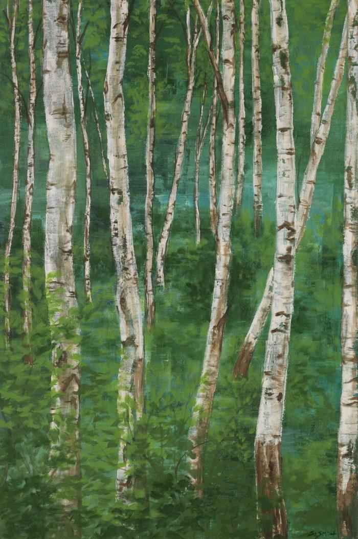 Spring Trees: Aspens Tahoe Truckee fine art nature painting