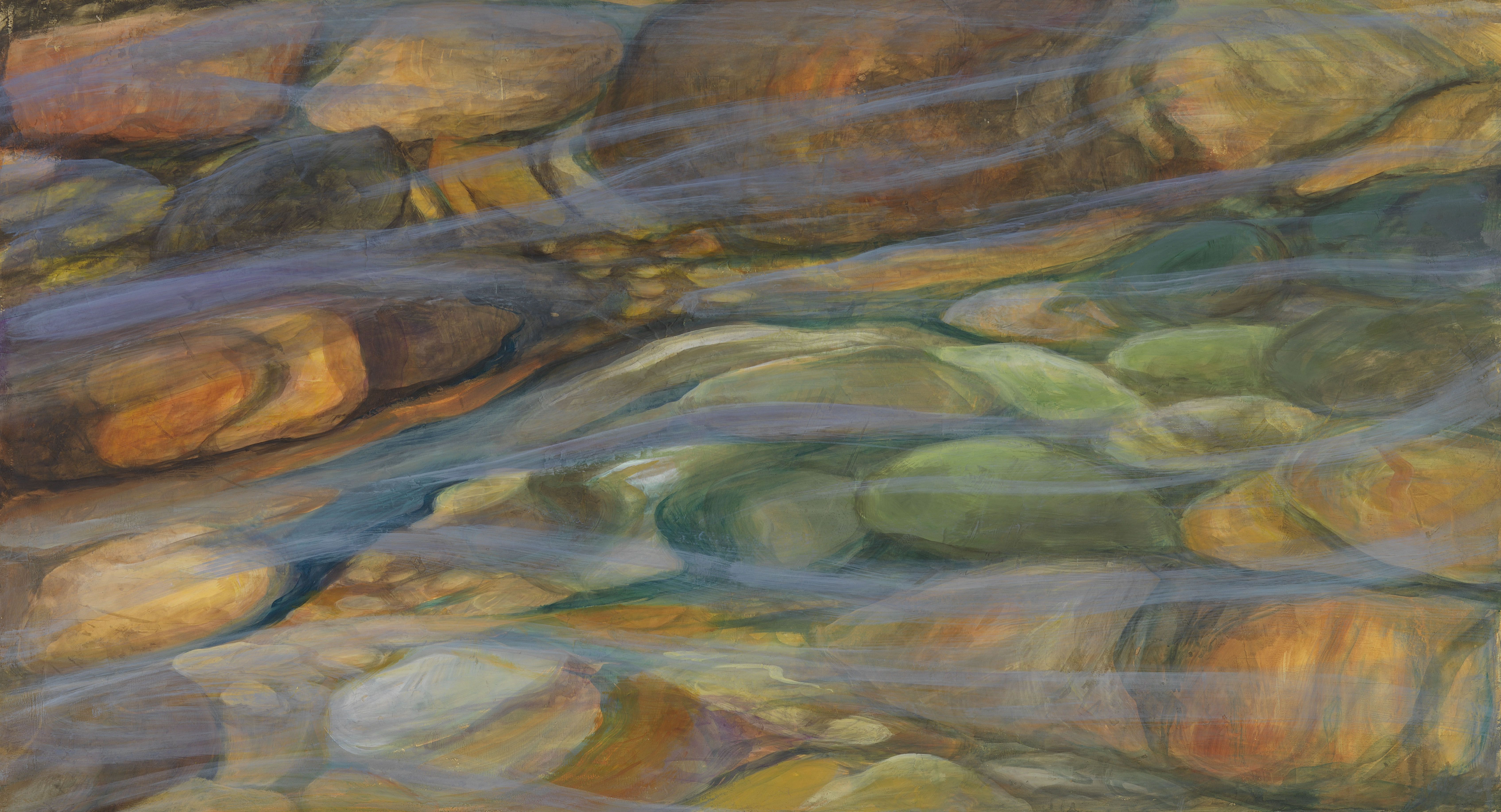Tahoe Flow - Truckee and Lake Tahoe fine artist landscape painter nature painting river rock current