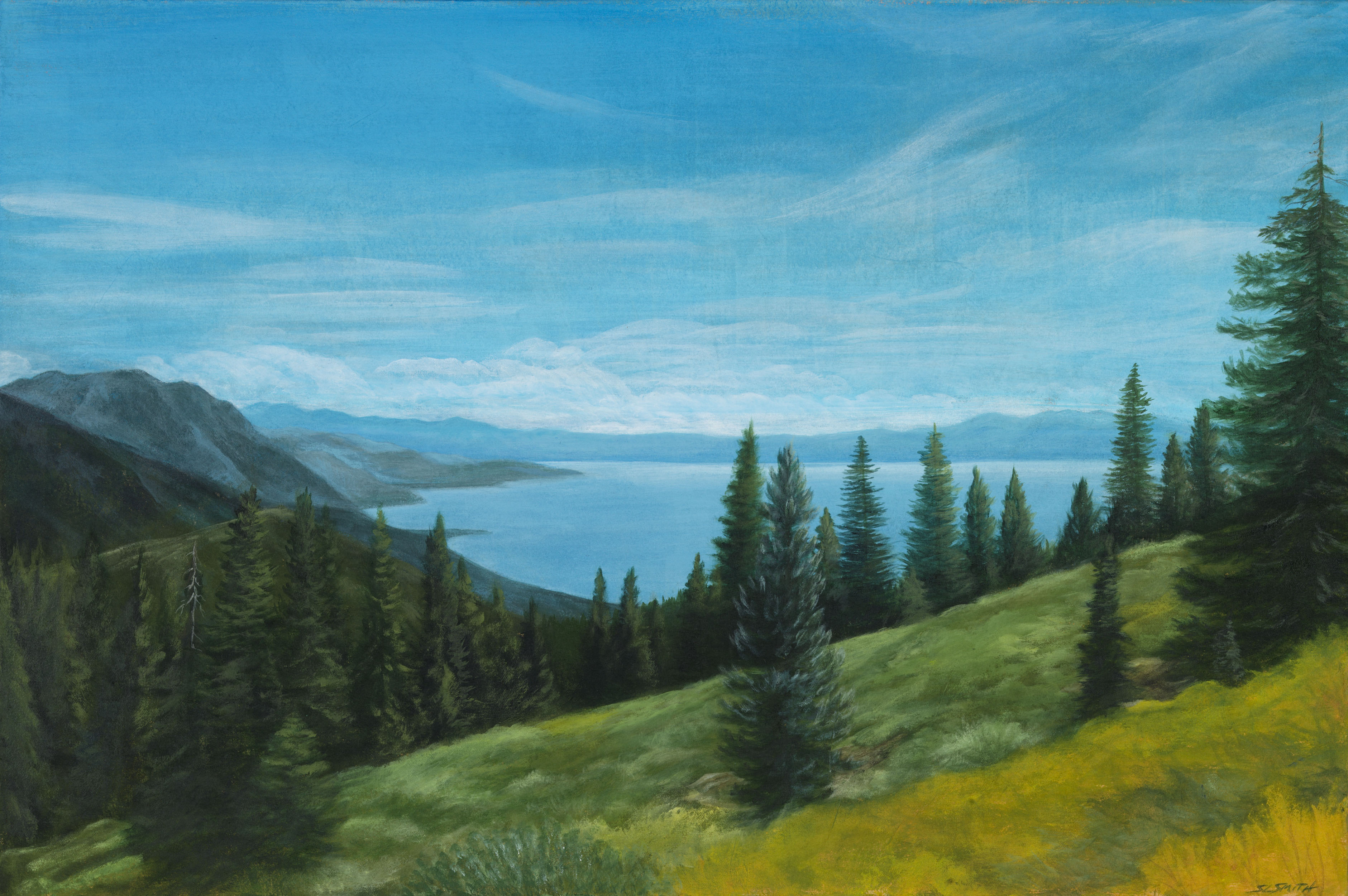 Tahoe Summer Blue - Truckee and Lake Tahoe fine artist landscape painter nature mountains