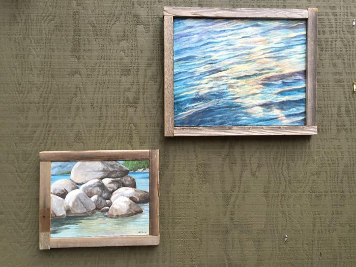 Truckee and Lake Tahoe fine artist wildlife painter landscape plein aire painting reclaimed wood