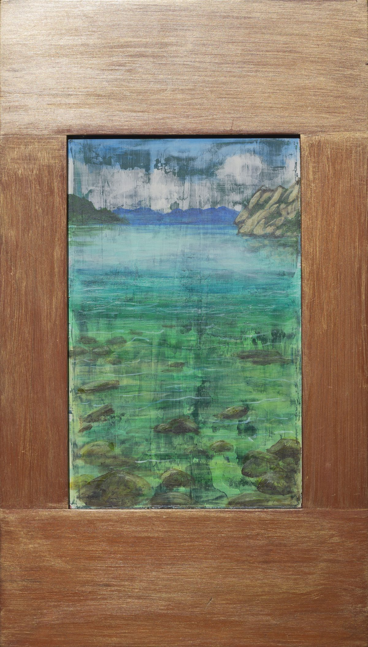 Tahoe Scenic - Reclaimed Wood Truckee and Lake Tahoe fine artist landscape painter nature painting