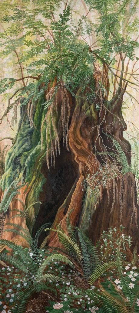 Transmutation Tahoe Truckee fine artist panel detail tree