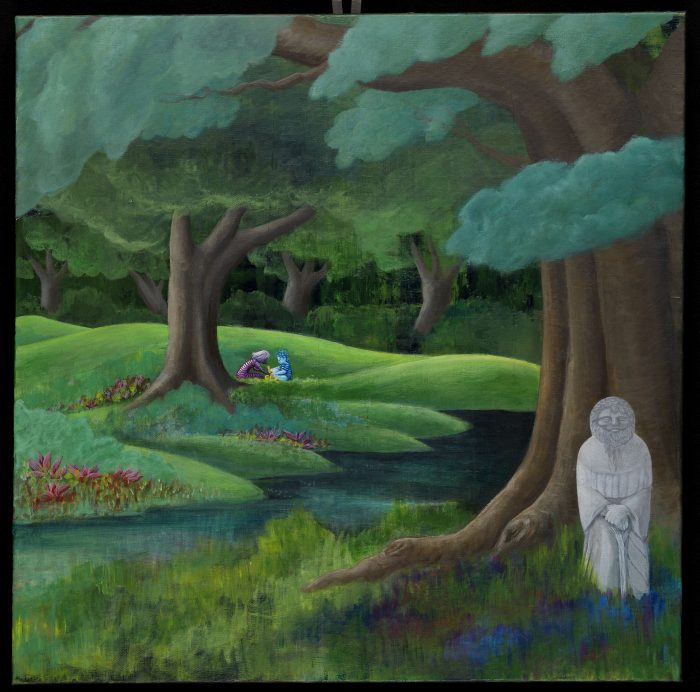The Dreaming Trees: Guardian in the Garden Tahoe Truckee fine art nature painting