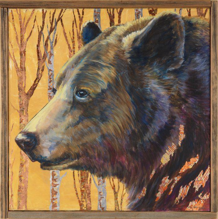 Black Bear - Watcher - Truckee and Lake Tahoe fine artist wildlife painter nature painting bear