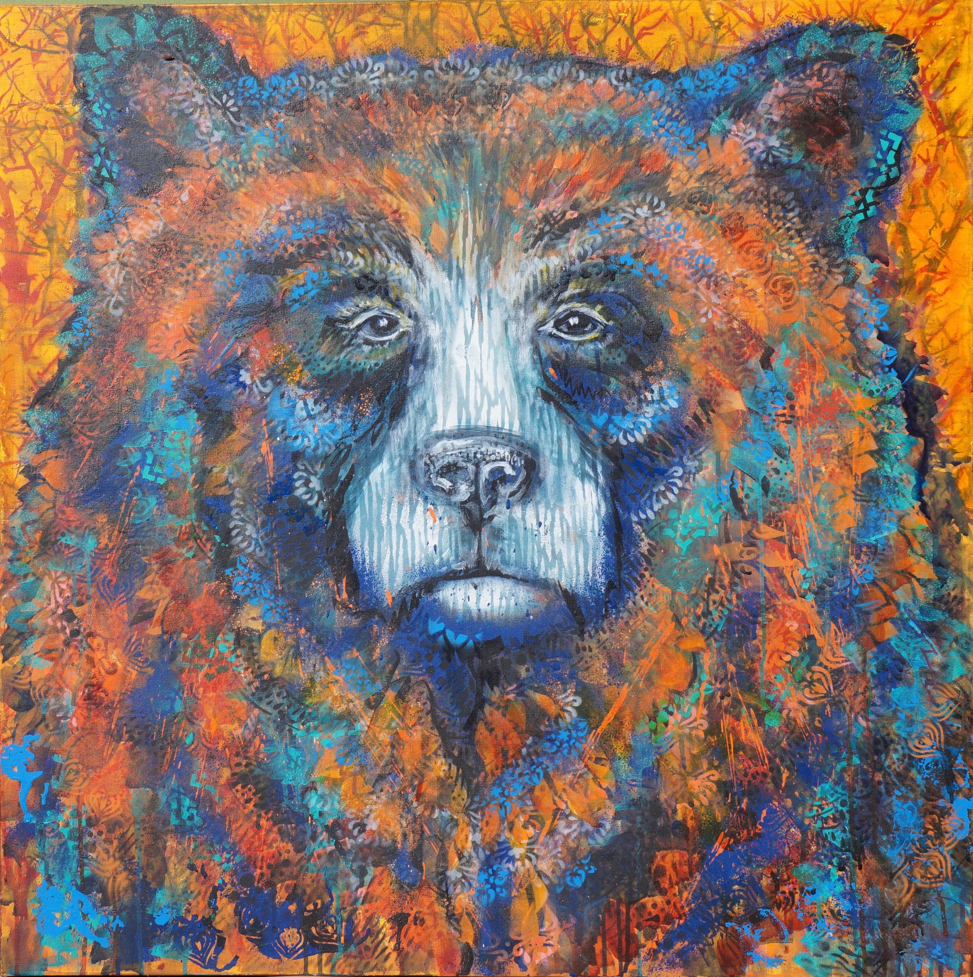 Wilding II Truckee and Lake Tahoe fine artist wildlife painter nature painting bear