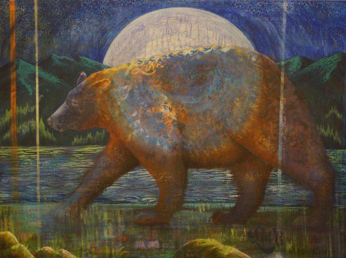 Spirit Bear II - Truckee and Lake Tahoe fine artist wildlife painter nature painting
