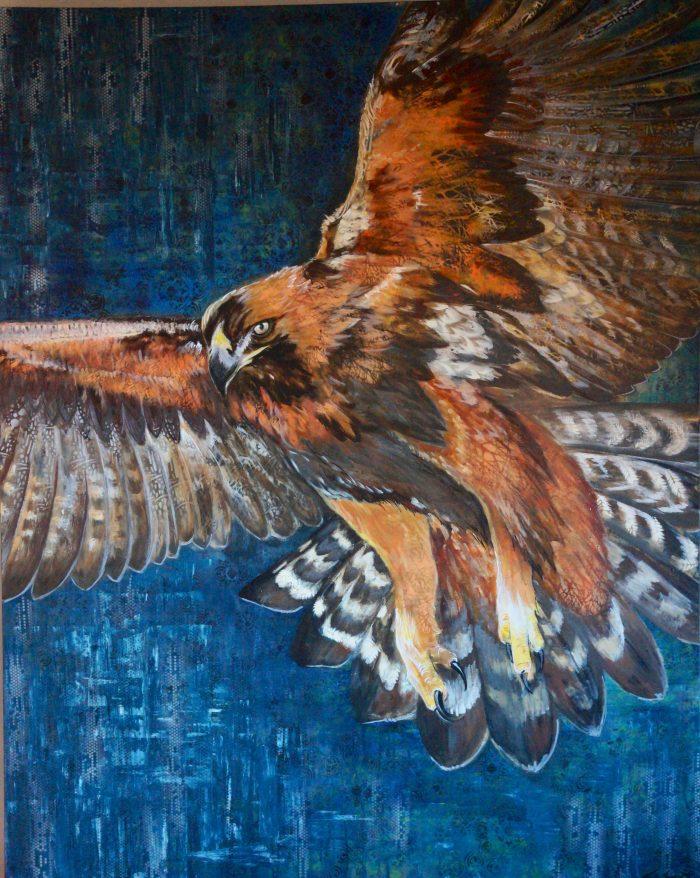 Flight I - Wilding Series Truckee and Lake Tahoe fine artist wildlife painter nature painting bird