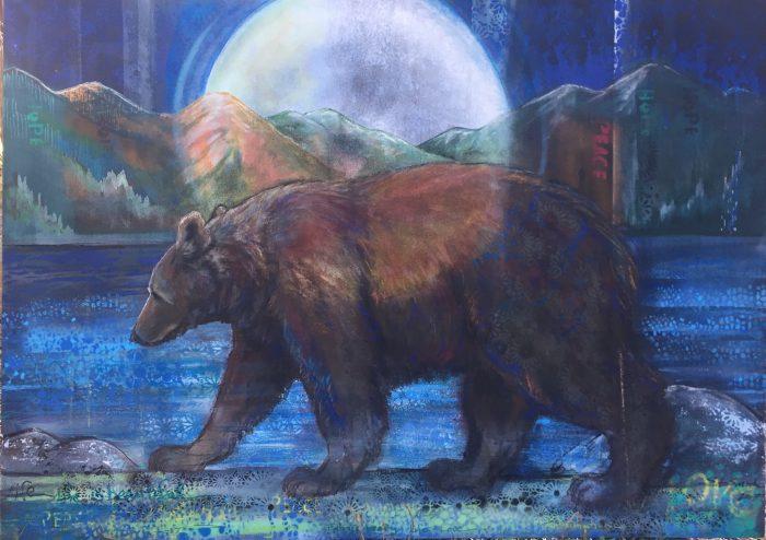 Spirit Bear - Truckee and Lake Tahoe fine artist wildlife painter nature painting