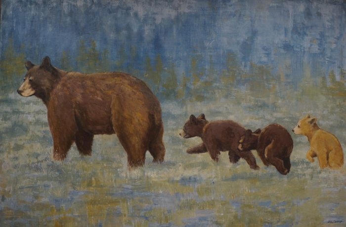 Family Outing - Truckee and Lake Tahoe fine artist wildlife painter nature painting bears